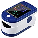 【Limited time Deal】Finger SP-O2 Measuring Instrument, Real time SP-O2, Heart Rhythm Rate, bar Graph for Sports Enthusiasts Like Mountain Climbers, Skiers, Bikers Measuring SP-O2 (2 Pack) (1pack)