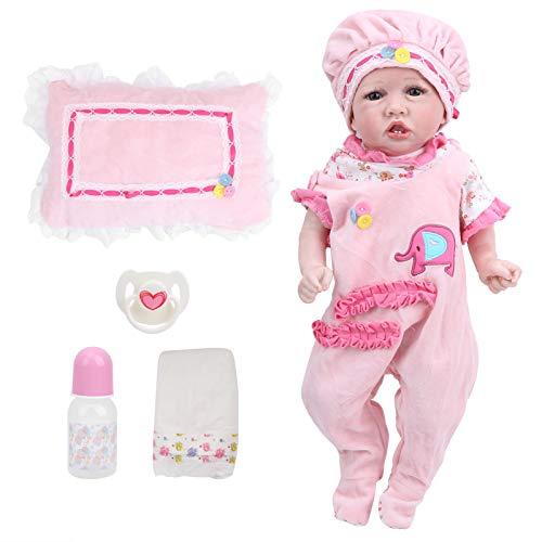 Muñeca renacida, muñecas bebé de Vinilo Suave de 55 cm, muñecas bebés de Cuerpo Completo, muñecas bebés, para acompañar la enseñanza