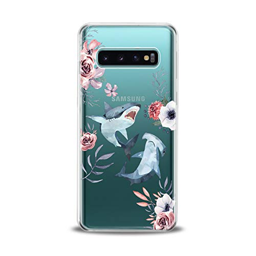 Lex Altern TPU Case for Samsung Galaxy s10 Plus 10e Note 10 5G 9 s9 s8 Whale Clear Shark Flowers Design Print Floral Girl Fish Gift Love Lightweight Cover Cute Flexible Slim fit Smooth Soft Art Teen