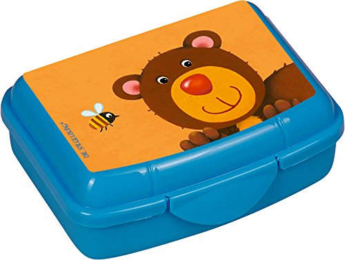 Freche Rasselbande Pequeña Mini Fiambrera Sandwichera Infantil Azul Oso