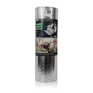 SuperFOIL SFBA MP - Aislamiento térmico de burbujas (60 cm x 5 m/10 m), doble capa reflectante de calor, polimultilámina para uso en techos, paredes, suelos para mejorar la eficiencia