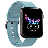 Smart Watch IP67 Sports Waterproof-HAOQIN QS1 HaoWatch Full Touch Smart Watch 1.54' Screen Fitness Tracker with Heart Rate Sleep Monitor for Men and Women Smart Watches Bluetooth 4.0 Android iOS Blue