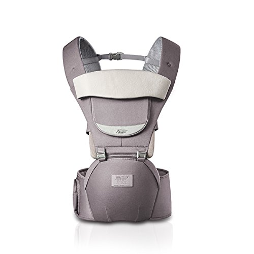SONARIN 3 en 1 Toutes Saisons porte-bébé respirant Hipseat,Baby Carrier,Ergonomique, Protection Solaire, Multifonction, Facile maman,100% GARANTIE et LIVRAISON GRATUITE, Idéal Cadeau(Gris)
