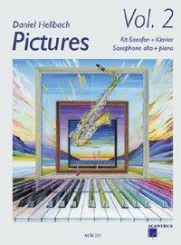 PICTURES 2 - arrangiert für Altsaxophon - Klavier - mit CD [Noten / Sheetmusic] Komponist: HELLBACH DANIEL