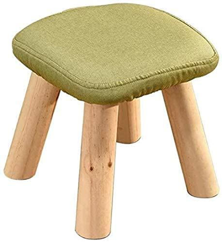Reposapiés de madera tapizada Leg4 Leg28 x 28 x 28 cm (color: gris), color: gris verde
