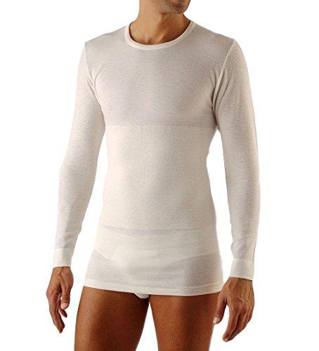 Relaxsan Ortopedica 1400 (Bianco, Tg.3) Maglia Termica Uomo Manica Lunga Lana Cotone con Fascia Lombare vertebrale