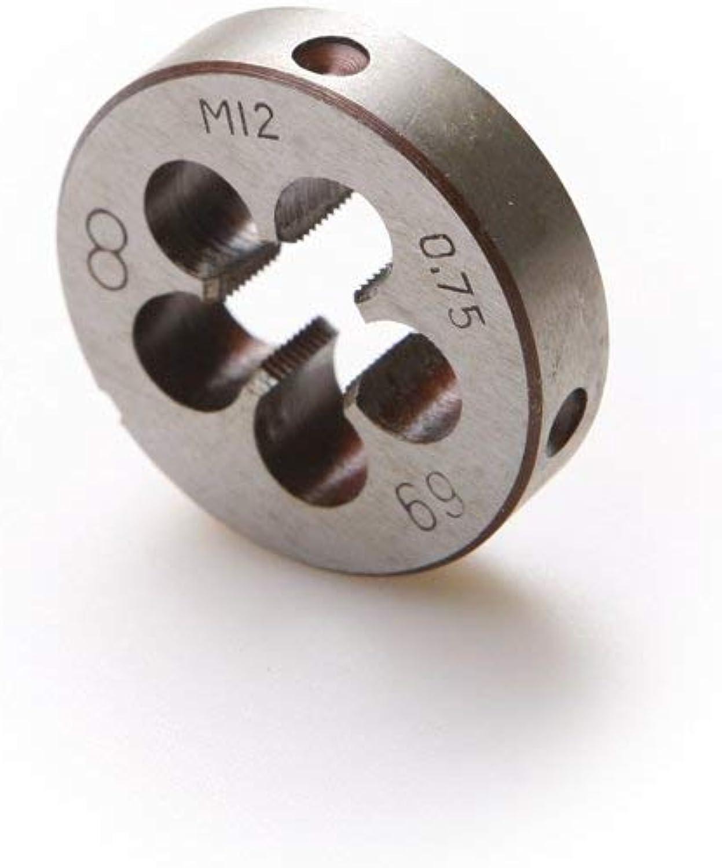 Sellify 3PCS hohe Härte legierter Stahl M12 Metric Threading Die 0,75 mm 1 mm, 1,25 mm Einsätze B07N3XDVPV | Feine Verarbeitung