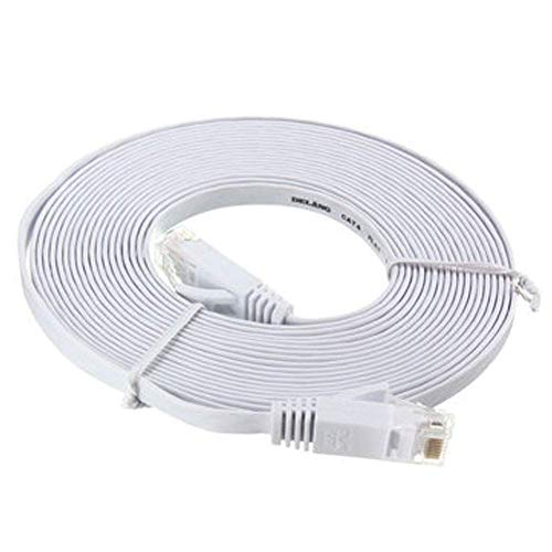 Gcdn 50 ft (15 Metros) Cable Plano Cat6 Ordenador Cable RJ45 Network...