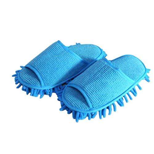 Faviye Mop schoenen 1 paar Chenille microvezel slippers vloerwisser lazy slipper voor huis vloer stof vuil haar reiniging