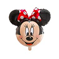 """Street Treats 34"""" Minnie Mouse Shaped Foil Balloon With Red Bow by Street Treats"""