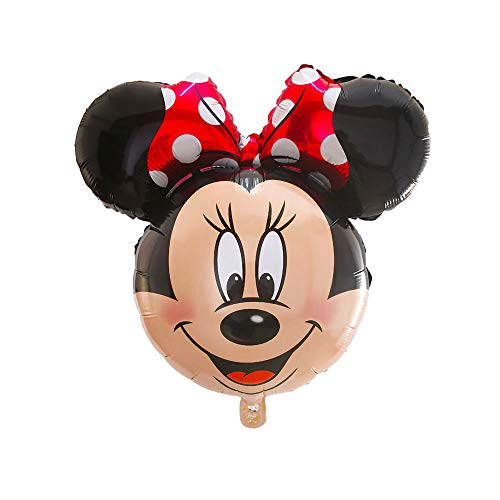 34' Minnie Mouse Globo de Hoja de metal Formado con Arco Rojo