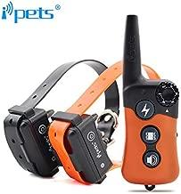 iPets Petrainer Pet619 Original, 300 Metros para 1 o 2 Perros a la Vez 100% Sumergible - 3 Modos - Funcionamiento Sencillo. Diseño ergonómico y pequeño. (+ con 2 Collares receptores)