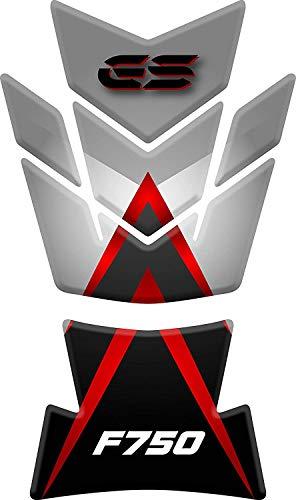 Tankpad Motorrad Draht Muster Tankschutz Polymer für BM.W F 750 F750 GS Rot