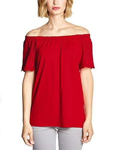 Street One Damen 313540 T-Shirt, Vivid red, (Herstellergröße:34)