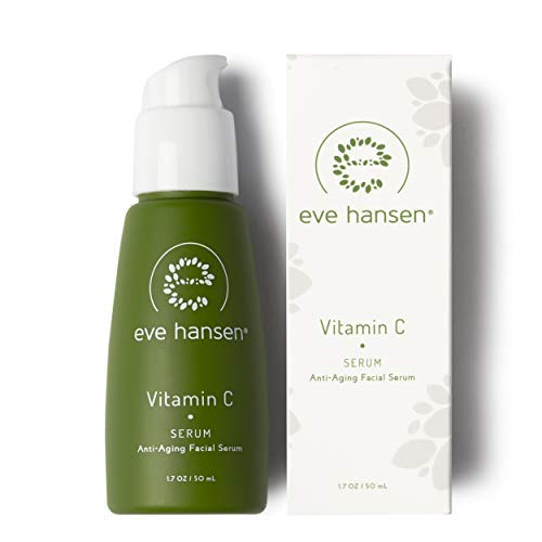 Eve Hansen Hypoallergenic Vitamin C Serum For Face (1.7 oz) with L-Ascorbic Acid, Hyaluronic Acid | Anti-Aging Facial Serum, Brightening, Dark Spot Corrector, Cruelty Free, Vegan, Dermatologist Tested