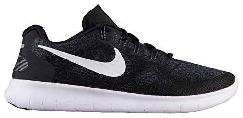 Nike Women's Free RN 2017 Running Shoes, Black/White-Dark Grey-Anth