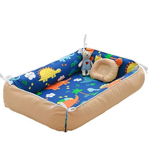 Cuna de bebé recién nacido, cuna plegable con almohada