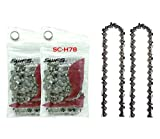 SWFS Reliable (2-PACK) Replacement H78 Saw Chain for 20 Inch Bar, fits Craftsman, Echo, Husquvarna and others