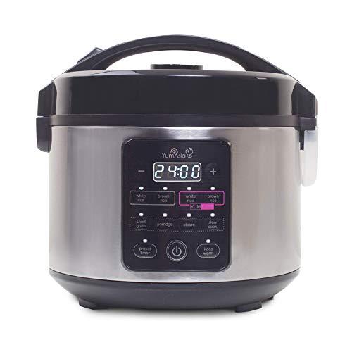 Yum Asia Kumo YumCarb Cuiseur à riz avec bol en céramique et logique floue avancée, (5,5 tasses, 1 litre), 5 fonctions de cuisson du riz, 3 fonctions multicuiseurs, 220-240V