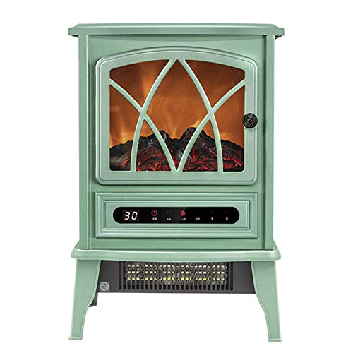 FTFTO Living Equipment Electric fireplace Electric fireplace heating with realistic flames 2000W green