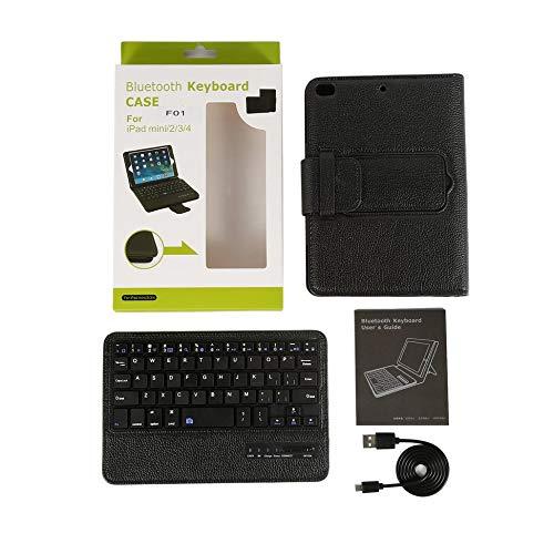 Bubbry afneembaar toetsenbord Flip PU beschermhoes voor iPadmini 4/3/2/1