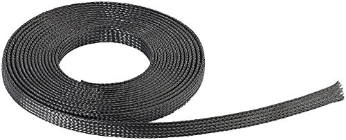 Callstel Kabelschlauch: Selbstschließender Netzschlauch aus Polyester, 5 m (Flexibler Kabelschlauch)
