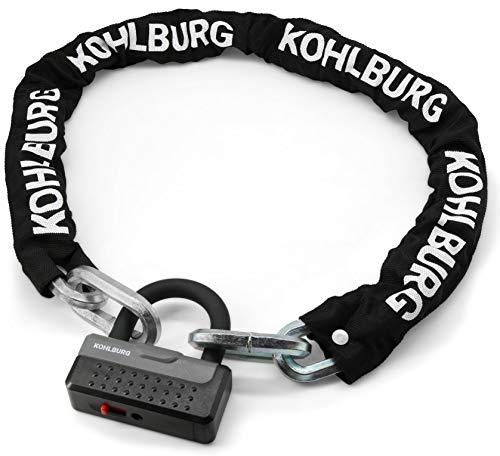 KOHLBURG candado de cadena sólido de 120 cm de largo y 12 mm de grosor con el máximo nivel de seguridad 10 10 - candado para motocicleta y bicicleta eléctrica - candado seguro