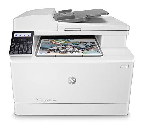 HP Color LaserJet Pro M183fw Multifunktions-Farblaserdrucker (Drucker, Scanner, Kopierer, Fax, WLAN, LAN, Airprint) weiß