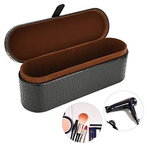 Estuche de almacenamiento para secador de pelo Dyson Supersonic HD01, funda resistente a los arañazos y al polvo, de piel sintética, plegable, organizador de viaje (negro)