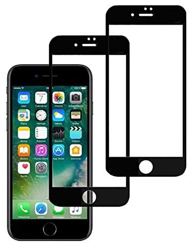 Eachy Compatibile con Vetro Temperato iPhone 7/iPhone 8, [2 Pezzi] Pellicola Protettiva iPhone 7/iPhone 8 Protezione Schermo Copertura Completa Bordo a Bordo 4,7 Pollici-Nero