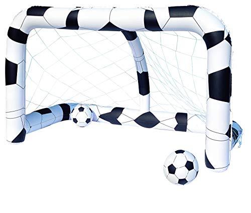 Bestway Fußballtor-Set, aufblasbar inkl. 2 Bällen