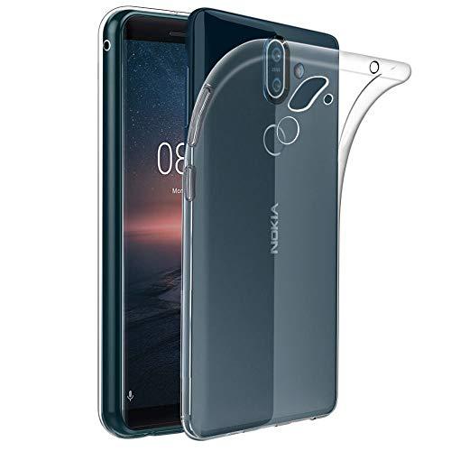 ebestStar - kompatibel mit Nokia 8 Sirocco Hülle Handyhülle [Ultra Dünn], Premium Durchsichtige Klar TPU Schutzhülle, Soft Flex Silikon, Transparent [Phone: 140.9 x 73 x 7.5mm, 5.5'']