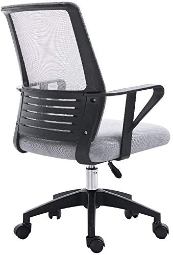 Mscxj Reception Chairs Computer Chair Ergonomic Computer Desk Chair Height Adjustable Task Swivel Executive Office Chair One-Piece Armrest High Back Large Size Fabric Gaming Chair Athletic Chair