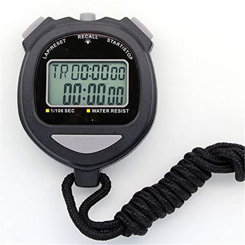 Stopwatch, sport-stopwatch, elektronische achtergrondverlichting, stopwatch, timer, dubbele rij, multifunctioneel, 60 kanalen, geheugen, stopwatch voor bussen, kinderen, training, spelen, fitness voor co