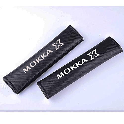 TYMDL 2 Stück Karbonfaser Auto Sicherheitsgurt Schulter-Pads Gurtpolster für Opel Mokka Mokka X All Models, Rennsport Styling Schulter Gurtschutz Abdeckung