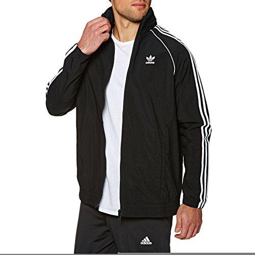 adidas Herren SST Windbreaker Jacke, Black, M