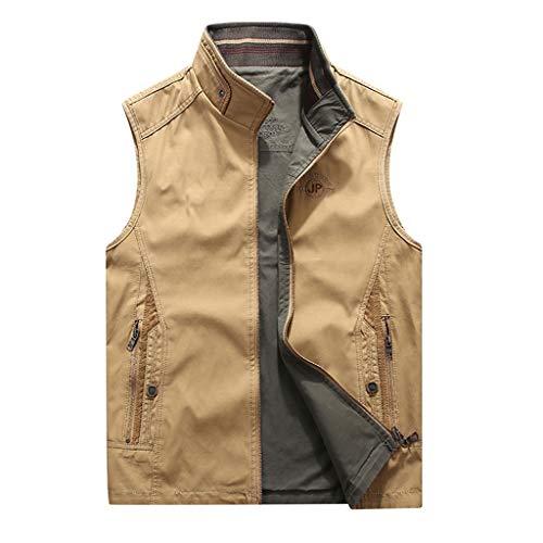 THBEIBEI Vest Mens Waistcoat Beide kanten kunnen dragen Gilets Ademend Jas draagbaar In Alle seizoenen Outdoor Vissen Vest Voor Camping Fotografie Jacht