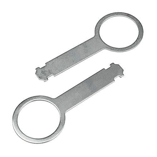 maxxcount Entriegelungswerkzeug (Paar) kompatibel mit Audi, Ford, Mercedes, Seat, Skoda & VW ab Baujahr 1995 (mit senkrechten Entriegelungsschlitzen)