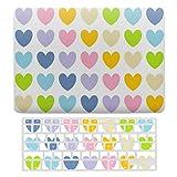 Funda protectora para MacBook New Pro 13 Touch A1706, A1989, A2159, carcasa rígida de plástico y teclado compatible con MacBook New Pro 13 Touch, diseño de corazones, color pastel arcoíris