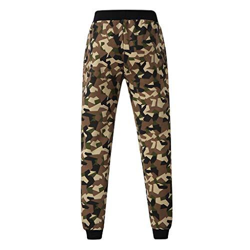 manadlian Pantalons Camouflage Cargo pour Homme Pantalon Grande Taille Joggers Sweatpants en Multi-Pocket Pants Casual Pantalon de Sport Taille Elastiquee Jeans Jogging