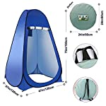 Laelr Pop up Toilet Tent, 4 Pack Shower Privacy Toilet Changing Room Changing Tent Foldable & Portable Beach Dressing… 14