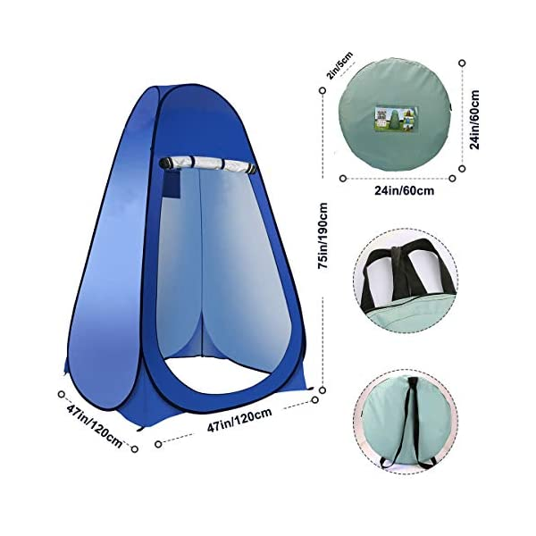 Laelr Pop up Toilet Tent, 4 Pack Shower Privacy Toilet Changing Room Changing Tent Foldable & Portable Beach Dressing… 7