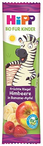 Hipp Bio-Riegel Früchte-Freund Zebra Himbeere in Banane-Apfel, 22er Pack (22 x 23 g)