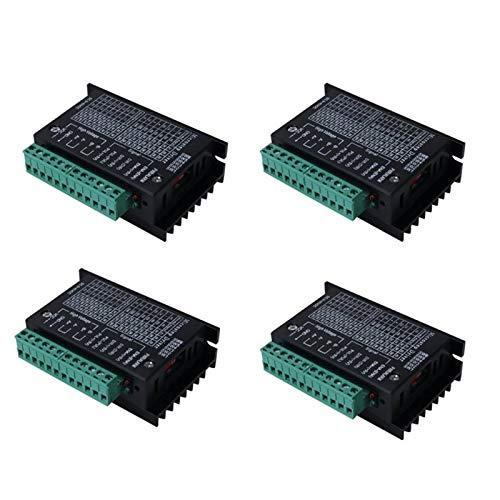 4 controladores de motor paso a paso TB6600 4A 9-42V tb6600 32 segmentos 2/4 fases híbridas placa de controlador de motor paso a paso
