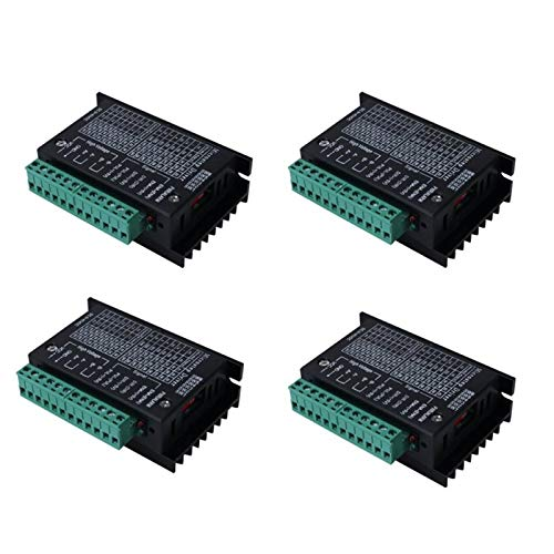 4 controladores de motor paso a paso TB6600 4 A 9 – 42 V tb6600 32 segmentos 2/4 fase híbrido paso a paso motor placa de controlador