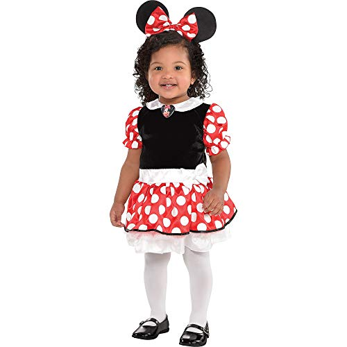 Suit Yourself Red Minnie Mouse Halloween Costume for Babies, 6-12 M, Includes Accessories