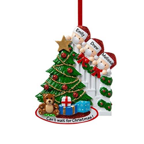 SUPERHUA Decoración de fiesta de Navidad de cuarentena 2020, regalo de Papá Noel con máscara, adorno colgante personalizado, regalo de Navidad 🔥