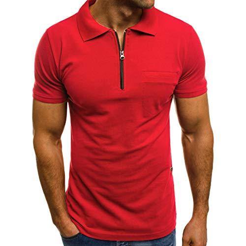 CICIYONER Herren Tshirts Sommer Poloshirts T-Shirt Kurzarm Shirt mit Rundhalsausschnitt Tarnung Sportshirt Fitness Freizeit 7 Farben S-3XL
