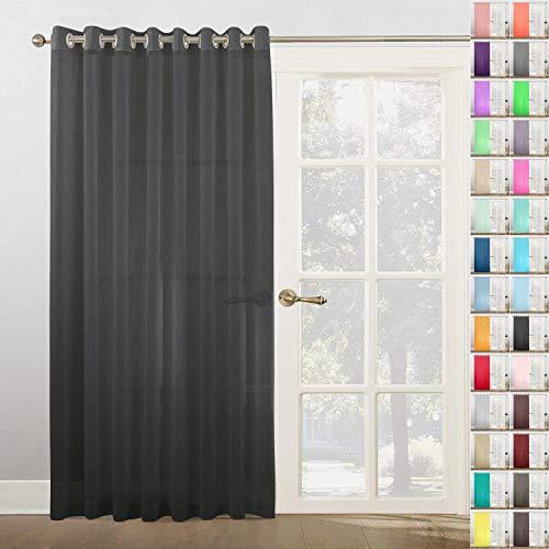 Megachest Vorhang, gewebt, mit Metall-Ringen, 1 Panel, Schwarz, 300 x 228,5 cm