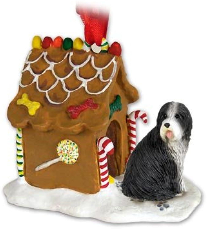 Conversation Concepts Collie Barbudo Ginger Bread House Ornament